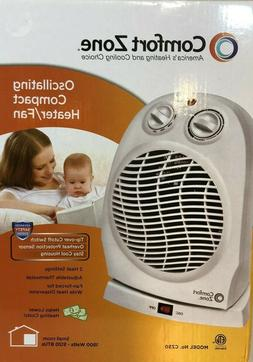 Comfort Zone Deluxe High Efficiency Oscillating Fan- Heater