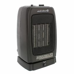 Comfort Zone CZ448 Black Compact Oscillating Ceramic Heater,